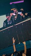 """Swaggman était présent dans la discothèque le """"D-clic"""" à Gosselies pour un show case privé.<br /> Arrivé à deux heure du matin dans la boite de nuit, le rappeur à notamment marqué les esprit par sa débauche en buvant le champagne à la bouteille ainsi qu'en jetant des billets au public venu assisté au show case. Belgique, Gosselies, le 06 décembre 2014 EXCLUSIF"""