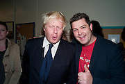 BORIS JOHNSON; JOHN DOWER,  Rachel's Johnson's 'A Diary of the Lady'book launch at The Lady's offices. Covent Garden. London. 30 September 2010. -DO NOT ARCHIVE-© Copyright Photograph by Dafydd Jones. 248 Clapham Rd. London SW9 0PZ. Tel 0207 820 0771. www.dafjones.com.