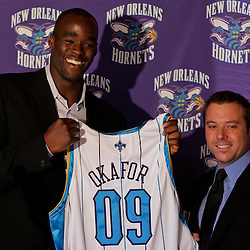 08-04 Emeka Okafor Press Conference