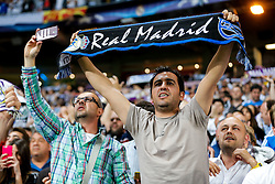 Fans celebrate after Real Madrid win 1-0 to progress for the Champions League Final - Mandatory byline: Rogan Thomson/JMP - 04/05/2016 - FOOTBALL - Santiago Bernabeu Stadium - Madrid, Spain - Real Madrid v Manchester City - UEFA Champions League Semi Finals: Second Leg.