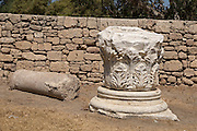 Remain of the Roman Basilica, Ashkelon National park, Israel