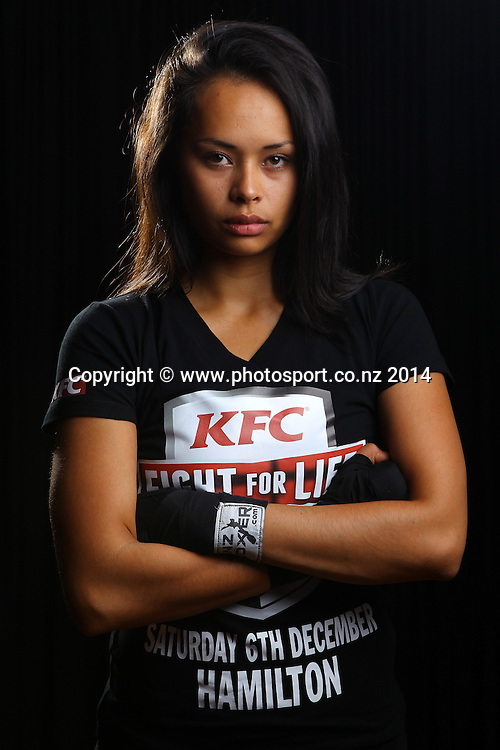 Frankie Adams photoshoot ahead of her KFC Fight for Life  match against Millie Elder-Holmes in December 2014. Photosport studios, 26 September 2014. Photo: William Booth/www.photosport.co.nz