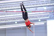 Kristen Leland places third in the women's pole vault at 14-11 1/2 (4.56m)  during the USA Indoor Track and Field Championships in Staten Island, NY, Sunday, Feb 24, 2019. (Rich Graessle/Image of Sport)