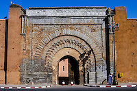 Morocco, Marrakesh. Bab Agnaou is one of the nineteen gates of Marrakech.
