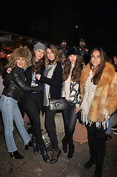 Tess Ward, Sabrina Percy, Amber Le Bon, Sarah Ann Macklin and Natalie Salmon at The Ivy Chelsea Garden's Guy Fawkes Party, 197 King's Road, London, England. 05 November 2017.