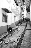 Meandering alleyways in Cuetzalan, México