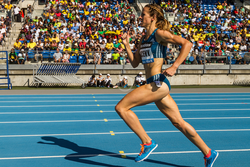Morgan Uceny in homestretch of women's 1500 meters at adidas Grand Prix Diamond League track and field meet