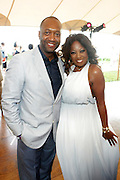 Water Mill, New York: (L-R) Jeff Friday, Founder & CEO, Film Life and Television Pesonality Star Jones attends the RUSH Philanthropic Arts Foundation 15th Annual Art For Life Benefit Gala held in the Hamptons at the Farmview Farms on July 26, 2014  in Water Mill, New York. (Terrence Jennings)