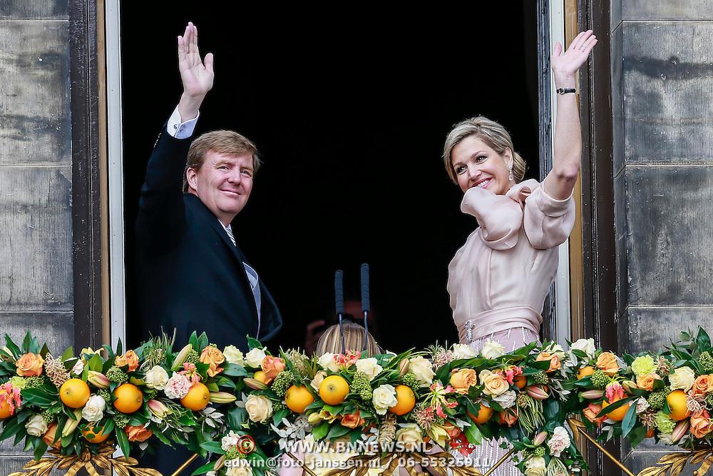 NLD/Amsterdam/20130430 - Inhudiging Koning Willem - Alexander en Koningin Maxima, Koning Willem Alexander, Koningin Maxima