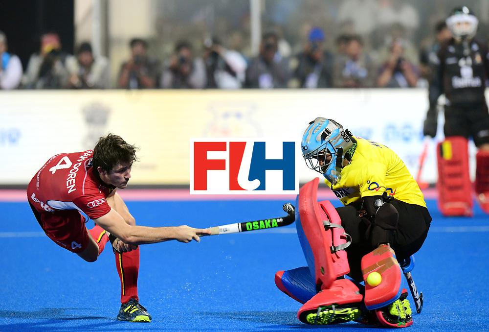 Odisha Men's Hockey World League Final Bhubaneswar 2017<br /> Match id:13<br /> Belgium v India<br /> Foto: Shoot Out<br /> Arthur van Doren (Bel)  scored<br /> COPYRIGHT WORLDSPORTPICS FRANK UIJLENBROEK