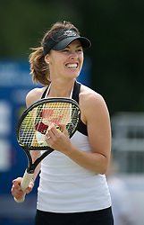 LIVERPOOL, ENGLAND - Sunday, June 19, 2011: Martina Hingis (SUI) in action during day four of the Liverpool International Tennis Tournament at Calderstones Park. (Pic by David Rawcliffe/Propaganda)