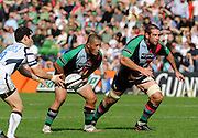 Twickenham, GREAT BRITAIN, left, Tani FUGA and Ollie KOHN, during the Guinness Premiership match,  Harlequins vs Bristol Rugby, at The Stoop Stadium, Surrey on Sat 13.09.2008. [Photo, Peter Spurrier/Intersport-images]