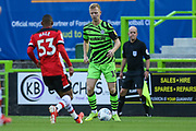 Forest Green Rovers Nathan McGinley(19) on the ball  during the EFL Trophy match between Forest Green Rovers and U21 Southampton at the New Lawn, Forest Green, United Kingdom on 3 September 2019.