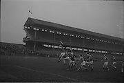 21/02/1965.02/21/1965.21 February 1965.Munster v Ulster Railway Cup semi-final at Croke Park. The final score was Ulster 0-14 Munster 0-9.. Munster's P. McMahon gets possession of the ball..
