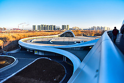 November 20, 2018 - China - Harbin, CHINA-The Harbin Grand Theatre, designed by Ma Yansong, is a landmark architecture in Harbin, northeast China's Heilongjiang Province. (Credit Image: © SIPA Asia via ZUMA Wire)