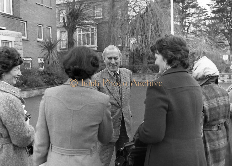 Farmers Wives and Daughters at British Embassy.1982.04.03.1982 .03.04.1982.4th March 1982..Photograph as the ladies are welcomed by the British Ambassador Sir Leonard Figg