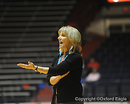 """Ole Miss head coach Renee Ladner vs. Auburn in women's college basketball at the C.M. """"Tad"""" SMith Coliseum in Oxford, Miss. on Thursday, February 25, 2010."""