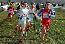 08-12-2013 ATHLETICS: SPAR EC CROSS COUNTRY: BELGRADE<br /> Junior men 6 km / Kristian Grunfeld SLO en Vid Zevnik SLO<br /> Foto: Ronald Hoogendoorn / Sportida