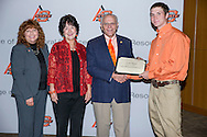 Freshmen and Transfer Student scholarship reception.<br />  Long's FFA Achievement Scholarship presented to Austin Woods