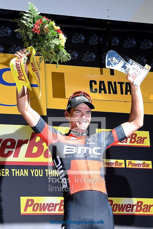 Greg Van Avermaet of Team BMC celebrates winning stage 5 of the Tour de France at La Lioran, France.<br /> Picture by Focus Images/Focus Images Ltd 07814 482222<br /> 06/07/2016
