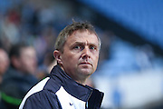 Colchester United Manager Kevin Keen  during the Sky Bet League 1 match between Coventry City and Colchester United at the Ricoh Arena, Coventry, England on 29 March 2016. Photo by Simon Davies.