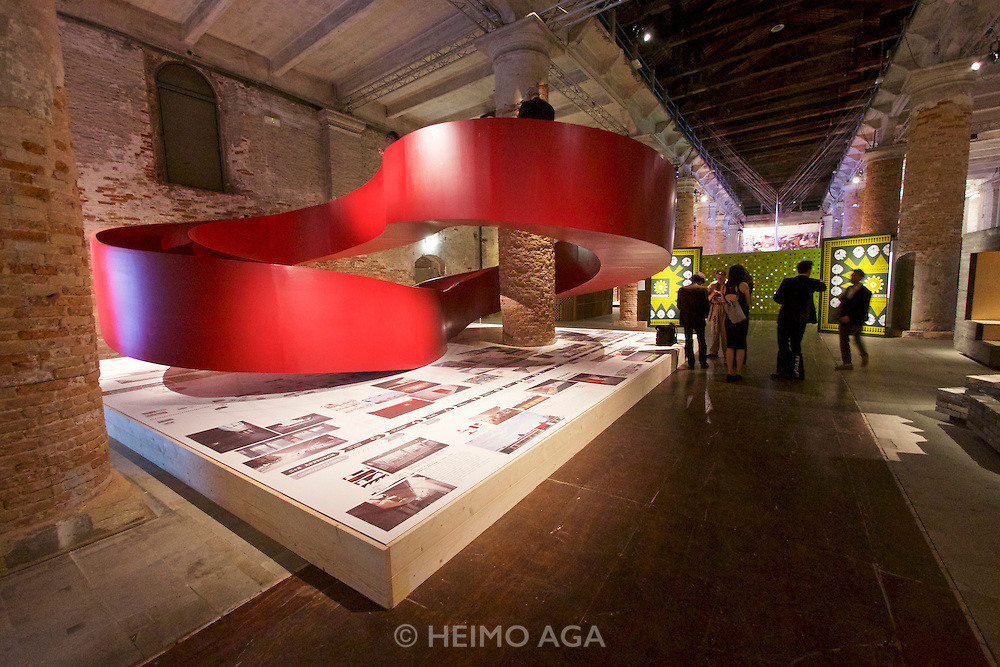 """Venice, Italy - 15th Architecture Biennale 2016, """"Reporting from the Front"""".<br /> Arsenale.<br /> C+S Architects"""