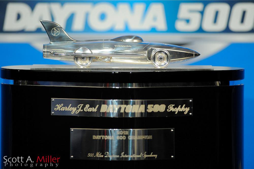The Harley J. Earl trophy during NASCAR media at Daytona International Speedway on Feb 16, 2012 in Daytona Beach, Fla. ..©2012 Scott A. Miller