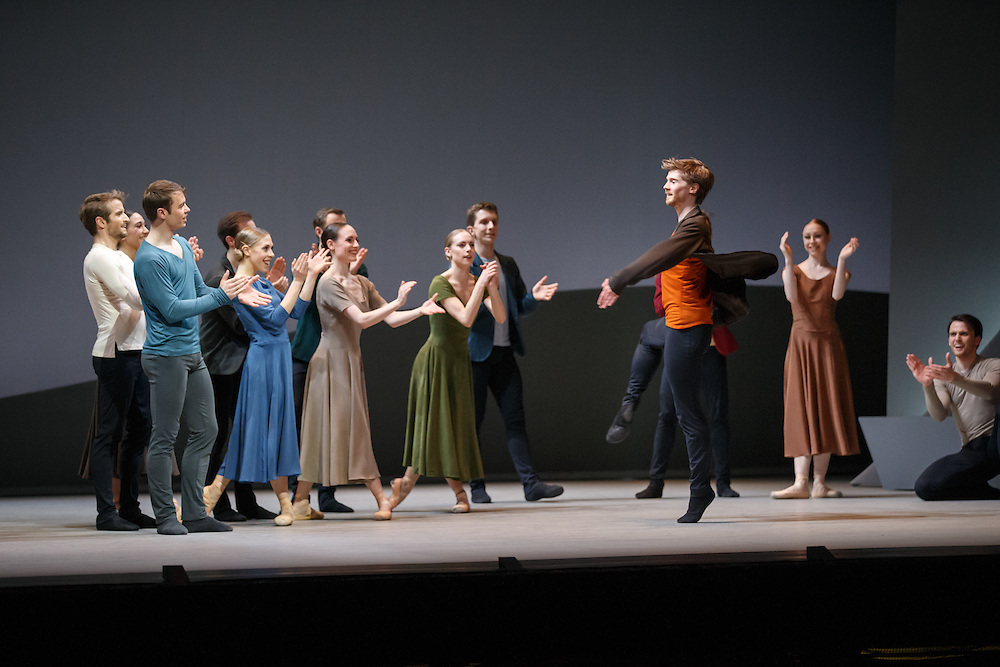 ++ Embargoed until 7.30pm on Tues 19th April'16 ++  <br /> The world premiere of Scottish Ballet's new Swan Lake by David Dawson at The Theatre Royal, Glasgow.   Principle dancer - Benno (Orange shirt): Andrew Peasgood. Picture Robert Perry 18th April 2016<br /> <br /> Must credit photo to Robert Perry<br /> FEE PAYABLE FOR REPRO USE<br /> FEE PAYABLE FOR ALL INTERNET USE<br /> www.robertperry.co.uk<br /> NB -This image is not to be distributed without the prior consent of the copyright holder.<br /> in using this image you agree to abide by terms and conditions as stated in this caption.<br /> All monies payable to Robert Perry<br /> <br /> (PLEASE DO NOT REMOVE THIS CAPTION)<br /> This image is intended for Editorial use (e.g. news). Any commercial or promotional use requires additional clearance. <br /> Copyright 2014 All rights protected.<br /> first use only<br /> contact details<br /> Robert Perry     <br /> 07702 631 477<br /> robertperryphotos@gmail.com<br /> no internet usage without prior consent.         <br /> Robert Perry reserves the right to pursue unauthorised use of this image . If you violate my intellectual property you may be liable for  damages, loss of income, and profits you derive from the use of this image.