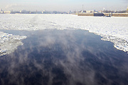 Saint Petersburg, Russia, The frozen Neva River