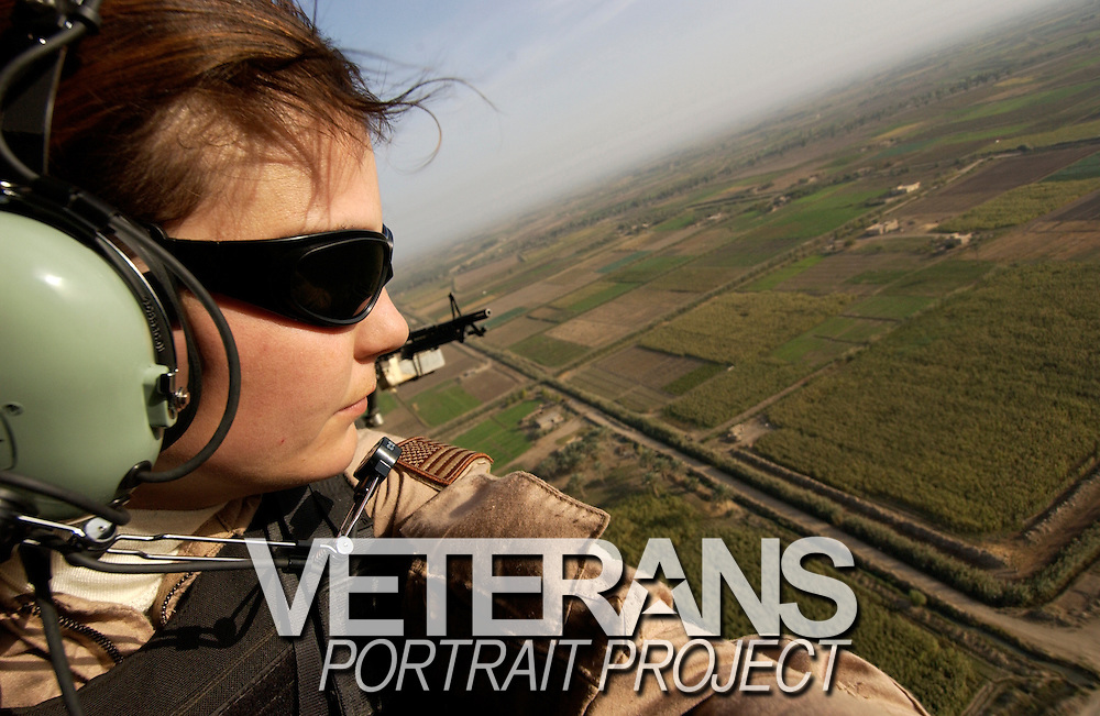 A self portrait of Stacy Pearsall over Babylon, Iraq.