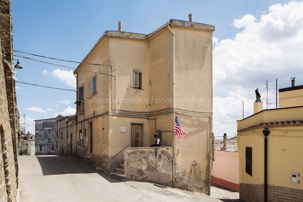 GRASSANO, ITALY - 24 JULY 2014: The house of Anna Briganti (Mayor of New York Bill de Blasio's grandmother) is here in Grassano, Mr de Blasio's ancestral home town in Italy, on July 24th 2014.<br /> <br /> New York City Mayor Bill de Blasio arrived in Italy with his family Sunday morning for an 8-day summer vacation that includes meetings with government officials and sightseeing in his ancestral homeland.