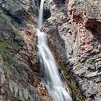 Upper Apikuni Falls, in the central section of Many Glaciers, Glacier National Park, Montana