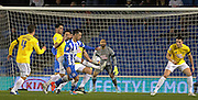 Brighton's Biram Kayal on the ball during the Sky Bet Championship match between Brighton and Hove Albion and Derby County at the American Express Community Stadium, Brighton and Hove, England on 3 March 2015. Photo by Phil Duncan.
