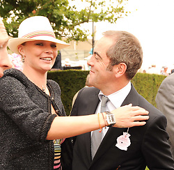JODIE KIDD and JAMES NESBITT at the third day of the 2010 Glorious Goodwood racing festival at Goodwood Racecourse, Chichester, West Sussex on 29th July 2010.