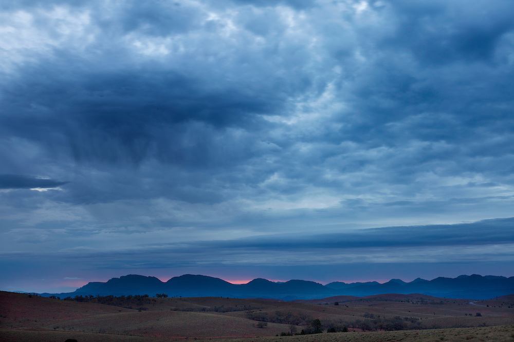 Storm in the Flinders ranges, Australia