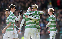 01/03/15 SCOTTISH PREMIERSHIP<br /> CELTIC v ABERDEEN<br /> CELTIC PARK - GLASGOW<br /> Celtic's Stefan Johansen celebrates his goal with team-mate John Guidetti (9)