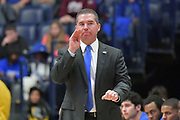 Middle Tennessee Blue Raiders head coach Nick McDevitt reacts during an NCAA college basketball game against the Mississippi Rebels in Nashville, Tenn., Friday, Dec. 21, 2018. (Jim Brown/Image of Sport)