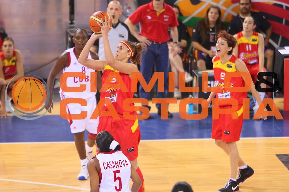 DESCRIZIONE : Madrid 2008 Fiba Olympic Qualifying Tournament For Women Quater Finals Cuba Spain <br /> GIOCATORE : Amaya Valdemoro <br /> SQUADRA : Spain Spagna <br /> EVENTO : 2008 Fiba Olympic Qualifying Tournament For Women <br /> GARA : Cuba Spain Cuba Spagna <br /> DATA : 13/06/2008 <br /> CATEGORIA : Tiro <br /> SPORT : Pallacanestro <br /> AUTORE : Agenzia Ciamillo-Castoria/S.Silvestri <br /> Galleria : 2008 Fiba Olympic Qualifying Tournament For Women <br /> Fotonotizia : Madrid 2008 Fiba Olympic Qualifying Tournament For Women Quater Finals Cuba Spain <br /> Predefinita :