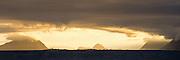 Golden morning light on west coast of Norway. High resolution panoramic picture | Gyllent morgenlys over Godøy, Grasøyene, Ålesund og Flø. Høyoppløslig panoramaformat.