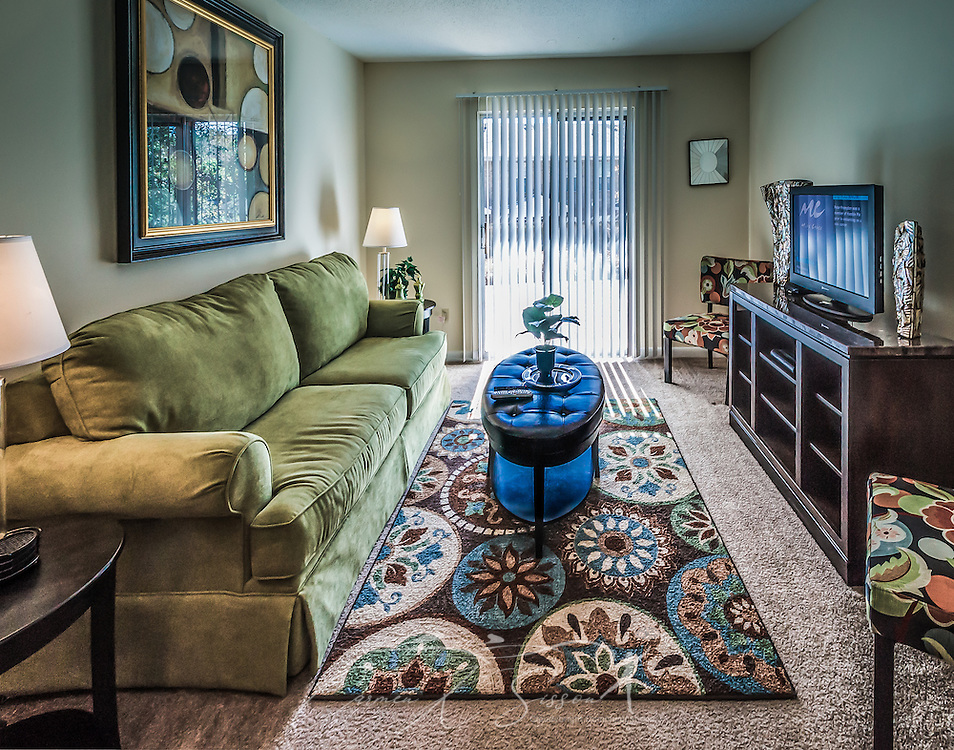 The living room at Autumn Woods Apartments on Foreman Road in Mobile, Alabama. The property is owned and operated by Sealy Management Co. (Photo by Carmen K. Sisson/Cloudybright)