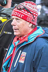 24.02.2019, Bergiselschanze, Innsbruck, AUT, FIS Weltmeisterschaften Ski Nordisch, Seefeld 2019, Skisprung, Herren, Teambewerb, Wertungssprung, im Bild Prof. Peter Schröcksnadel (ÖSV Präsident) // Peter Schroecksnadel Austrian Ski Association President during the competition jump for the men's skijumping Team competition of FIS Nordic Ski World Championships 2019 at the Bergiselschanze in Innsbruck, Austria on 2019/02/24. EXPA Pictures © 2019, PhotoCredit: EXPA/ Dominik Angerer