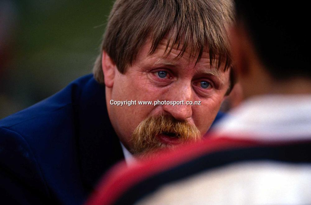 Counties Manukau NPC rugby coach, Ross Cooper, 1994. Photo: Andrew Cornaga/PHOTOSPORT *** Local Caption ***
