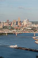 Ohio River Cincinnati Skyline