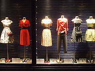 Dress display along Rue Charonne in the 11th Arrondissement of Paris, 2016.