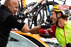 Milan Erzen and David PLESE seen during Slovenian Road Cyling Championship 2020 on June 21, 2020 in Cerklje na Gorenjskem, Slovenia. Photo by Peter Podobnik / Sportida.