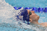 Christoph Walker-Hebburn heading for a team Gold Medal in the 4 x 100m Medley during day 14 of the 33rd  LEN European Aquatics Championship Swimming Finals 2016 at the London Aquatics Centre, London, United Kingdom on 22nd May 2016. Photo by Martin Cole.