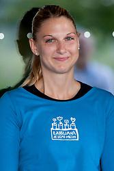 Tamara Mavsar during practice session of RK Krim Mercator on August 6, 2014 in SRC Stozice, Ljubljana, Slovenia. Photo by Urban Urbanc / Sportida