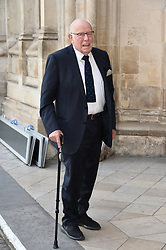 © Licensed to London News Pictures. 07/06/2017. London, UK. RICHARD WILSON attends a service of Thanksgiving for the life and work of RONNIE CORBETT at Westminster Abbey. The entertainer, comedian, actor, writer, and broadcaster was best known for his long association with Ronnie Barker in the BBC television comedy sketch show The Two Ronnies. Photo credit: Ray Tang/LNP