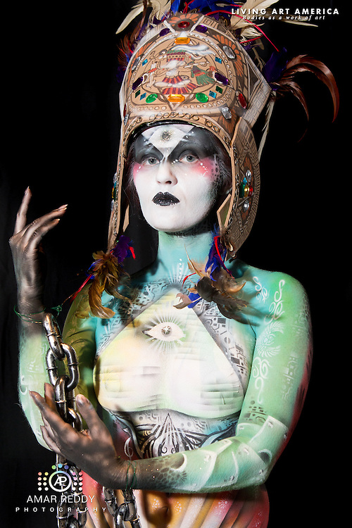 Living Art America::The Bodies Works of Art::The North American Body Painting Championship | A World Body-painting Association Sanctioned Event <br /> <br /> Artist: Nicole Hays, <br /> Model:&nbsp;Charley Mathis,<br /> Photographer: Amar Reddy<br /> <br /> www.livingartamerica.com<br /> www.AmarPhotography.com