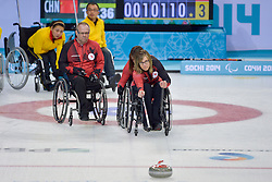 Sonja Gaudet, Dennis Thiessen, Wheelchair Curling Semi Finals at the 2014 Sochi Winter Paralympic Games, Russia